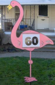 Flamingo Theme Sign