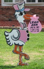 Leah Ann's Birth Announcement Stork