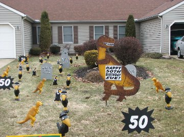 3D Dinosaur Display with Buzzards/Crows/Tombstones