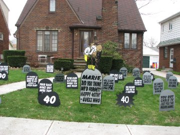Wacky Tombstones Full Display